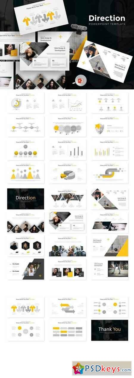 Direction - Powerpoint, Keynote, Google Sliders Templates