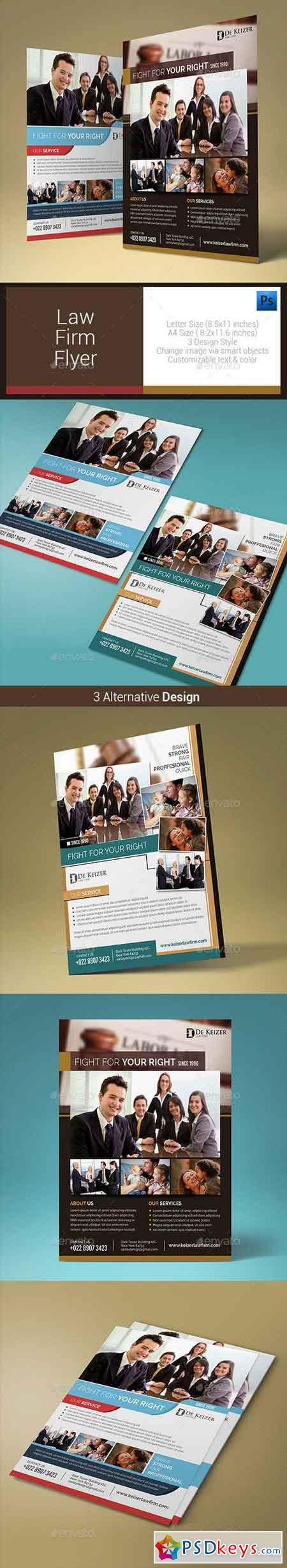 Law Firm Flyer 10608631
