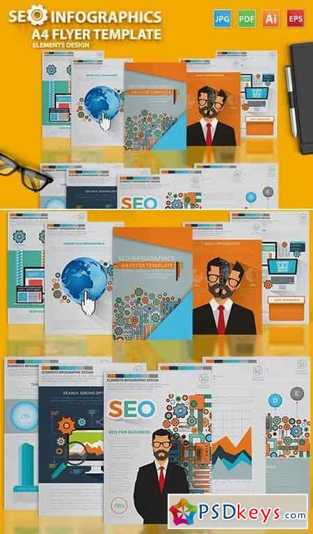 SEO Infographic Elements Design