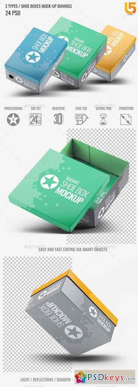Shoe Boxes Mock-Up Bundle 22532227
