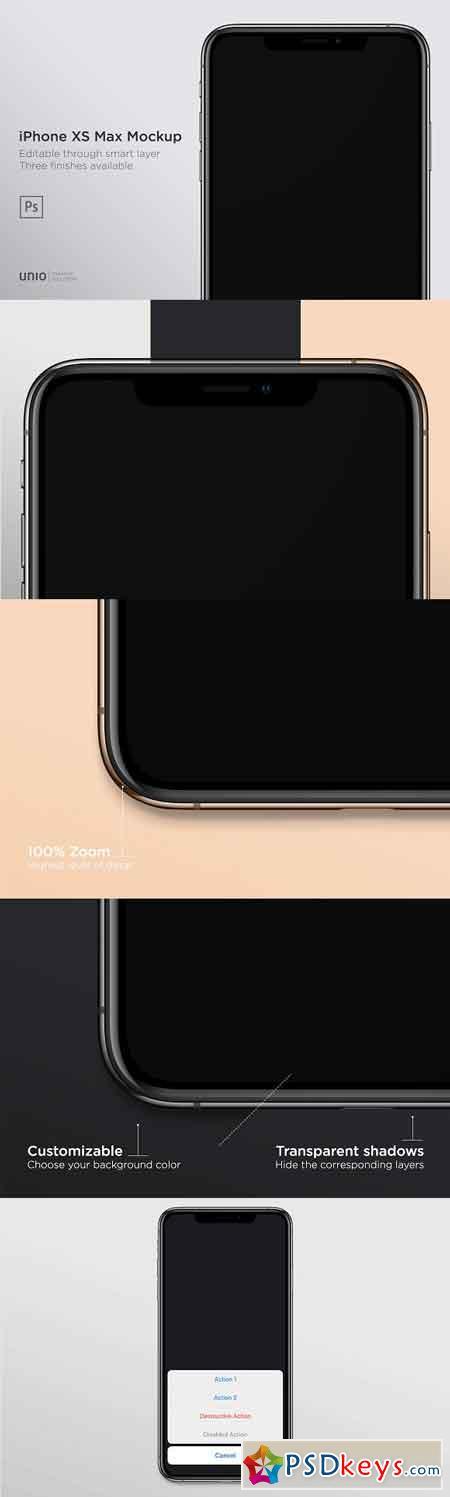iPhone XS Max Mockup 2950305