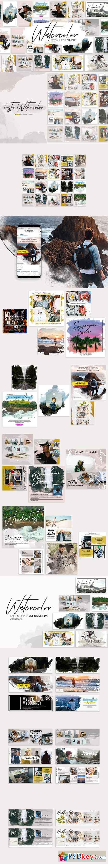 Watercolor Bundle 2940687