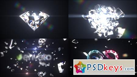Shattered Diamond Logo Text Reveal 21059112 After Effects Template