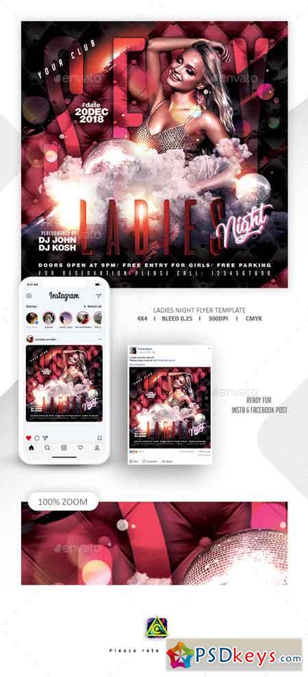 Ladies Night Flyer Template 22655002