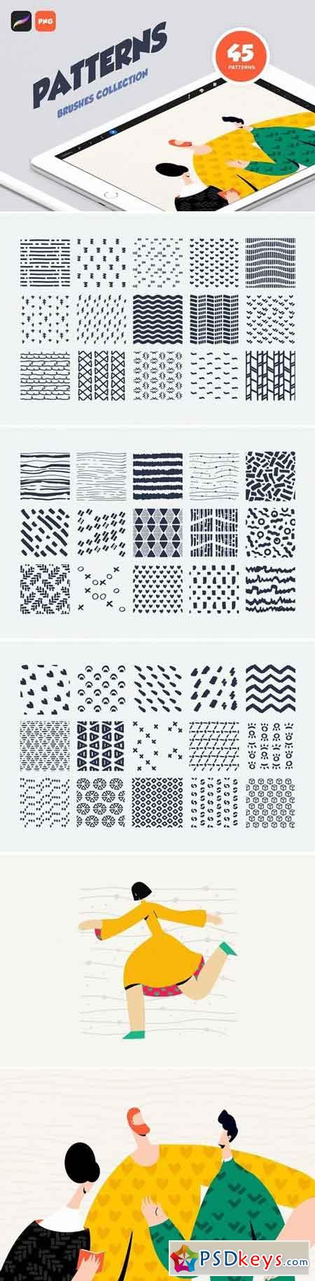 Procreate Patterns Brushes Set 3039089