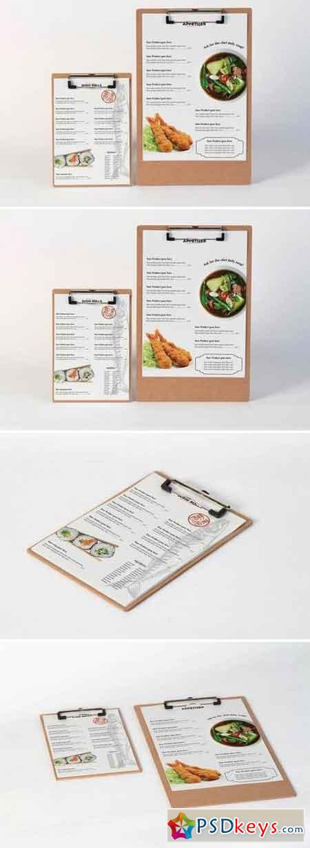 Restaurant Menu Mock Up
