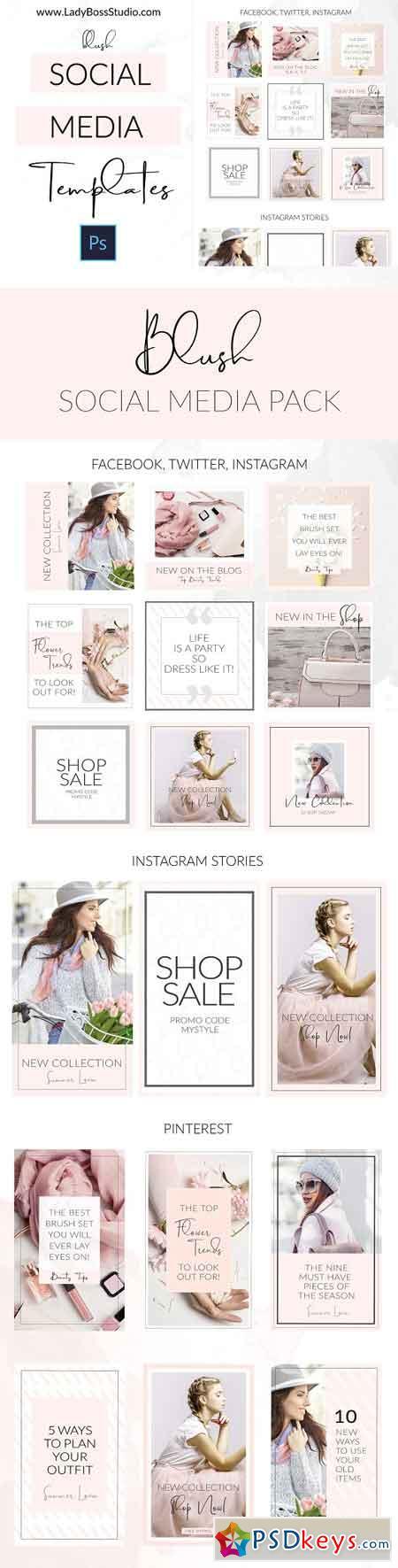 Social Media Templates + Pinterest 2963726