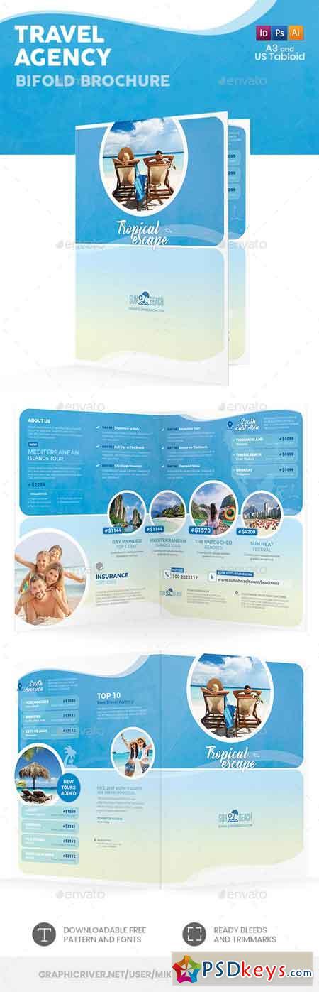 Travel Agency Bifold Halffold Brochure 5 22655582