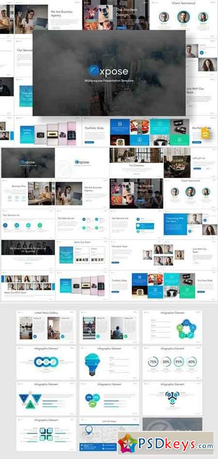 Exposed - Powerpoint, Keynote, Google Sliders Templates