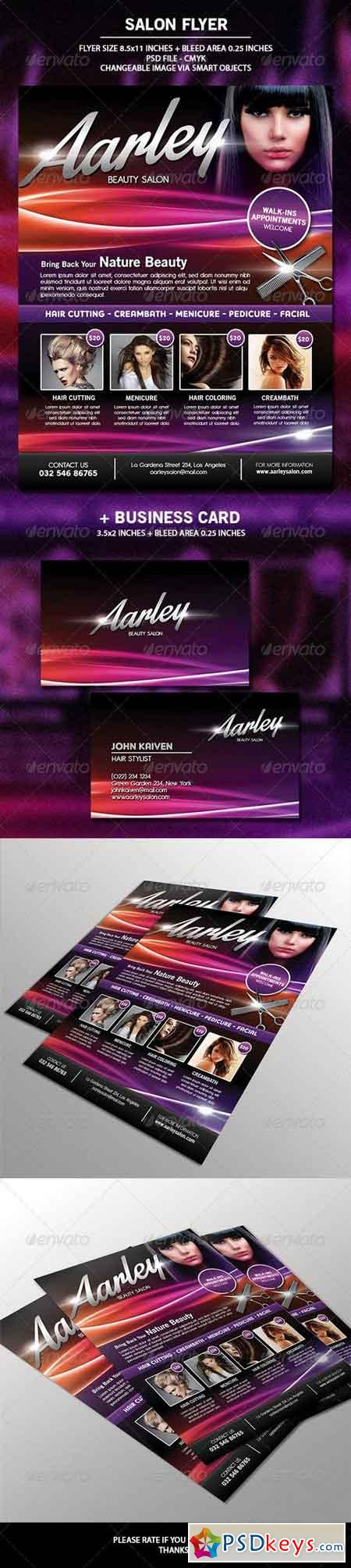Salon Flyer + Business Card 6648679