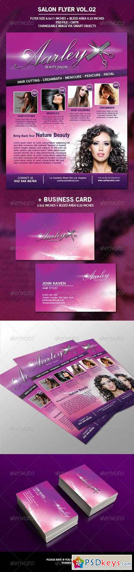 Salon Flyer + Business Card Vol.2 6908369