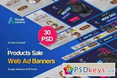Product Banners Ad - 30 PSD [02 Sets]