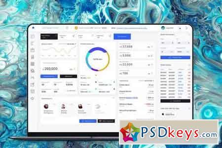 Admin Dashboard Crypto Balance Ui kit