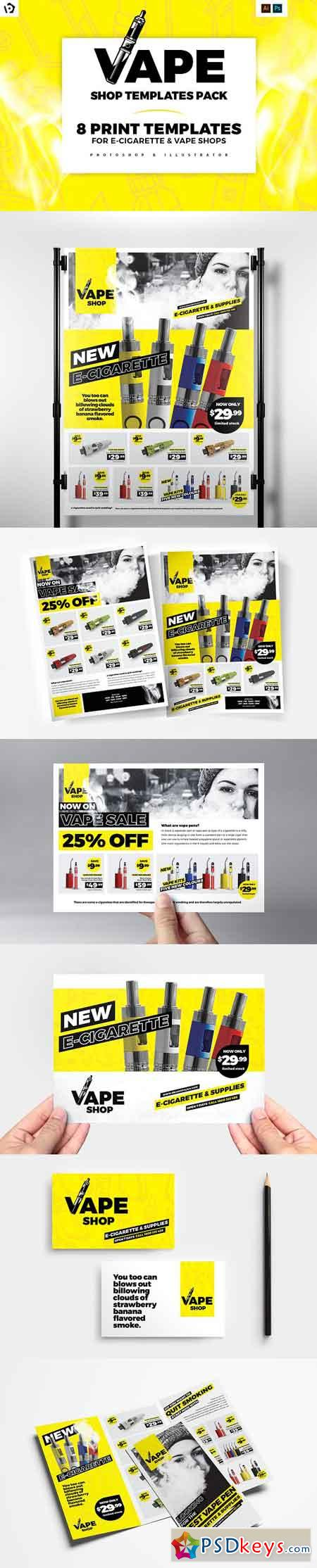 Vape Shop Templates Pack 3016031