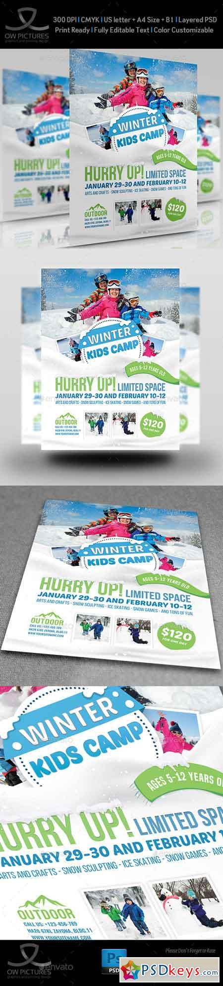 Kids Winter Camp Flyer Template 22688369