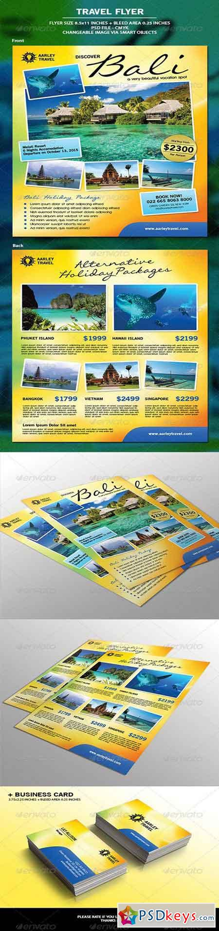 Travel Flyer + Business Card 6867642