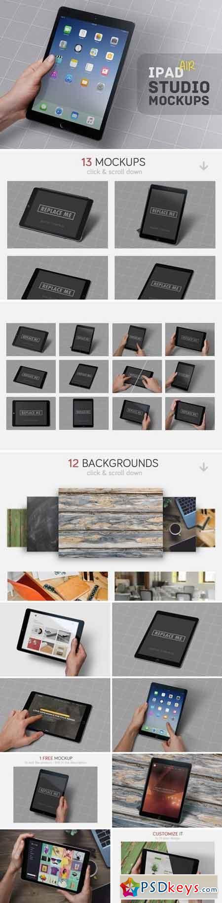 iPad Air Studio Mockups 1306667
