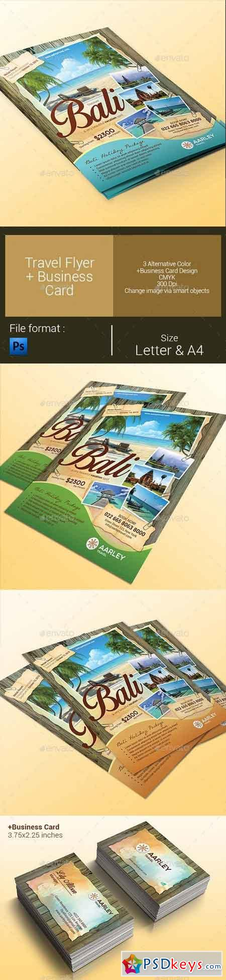 Travel Flyer + Business Card 9929864