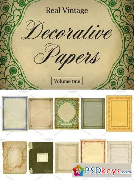 Real Vintage Decorative Papers Vol 1 4689