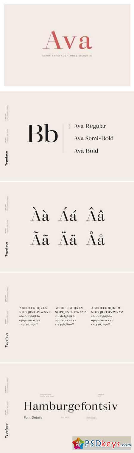 Ava - A Classy Serif Typeface 3071542
