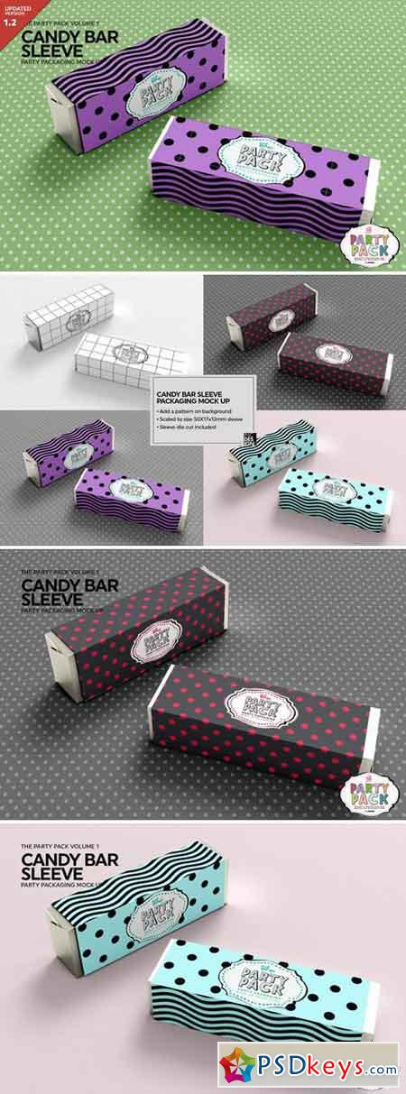 Candy Bar Sleeve Packaging Mockup 2199575