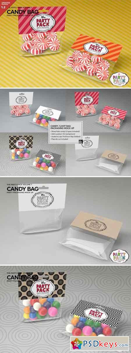 Candy Bag Packaging Mockup 2199583