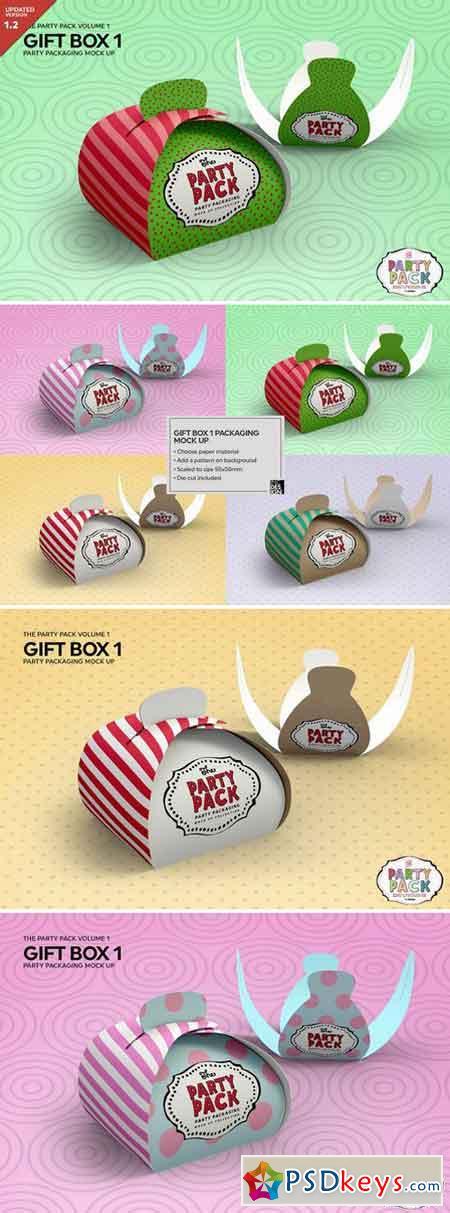 Gift Box 1 Packaging Mockup 2199585