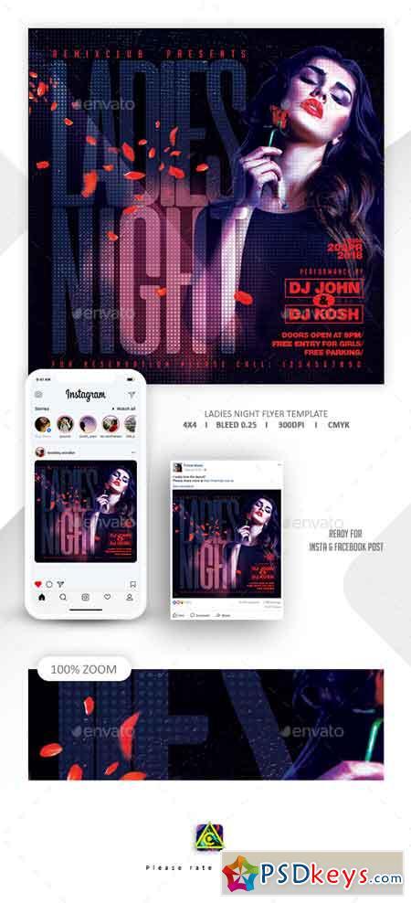 Ladies Night Flyer Template 22669831