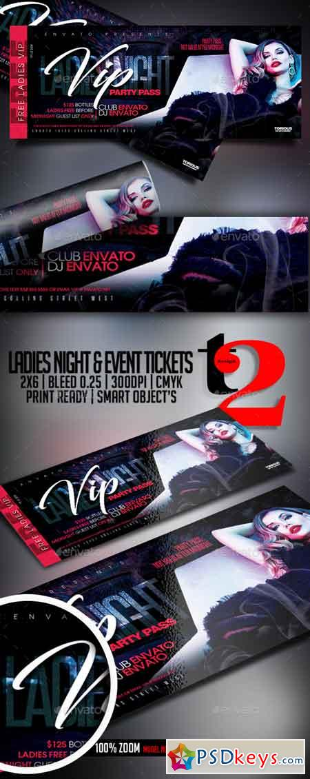 Ladies Night Event Tickets Template 22676140