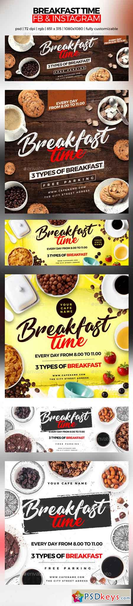 Breakfast Time Facebook Cover and Instagram 22672687
