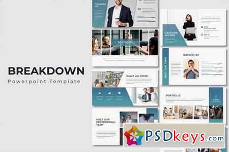Breakdown - Powerpoint, Keynote, Google Sliders Templates