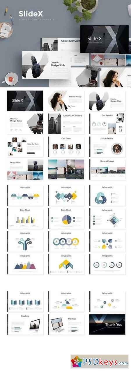 Slide X - Powerpoint, Keynote, Google Sliders Templates