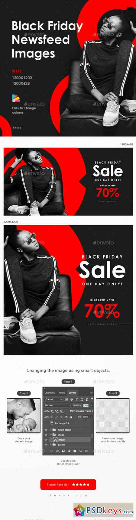 Black Friday Sale Social Media Banner Set 22681544