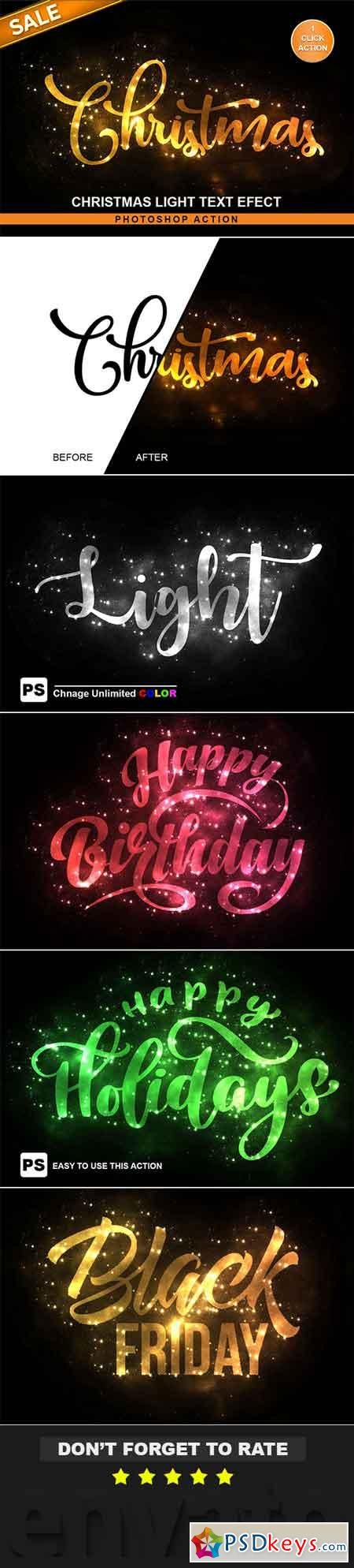 Christmas Text Effect Photoshop Action 22681467