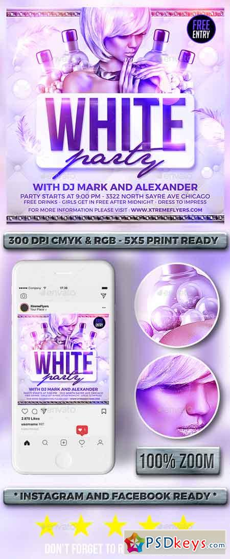 White Party Flyer 22685325