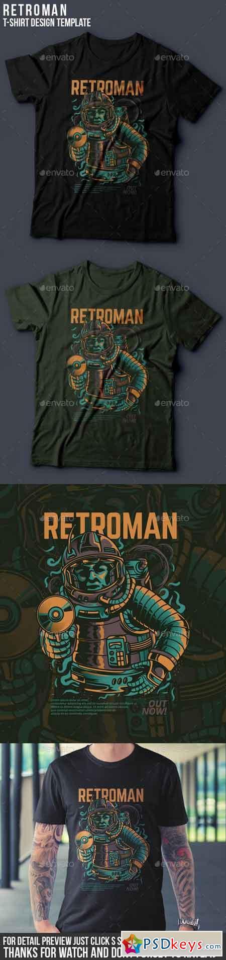 Retroman T-Shirt Design 21055042