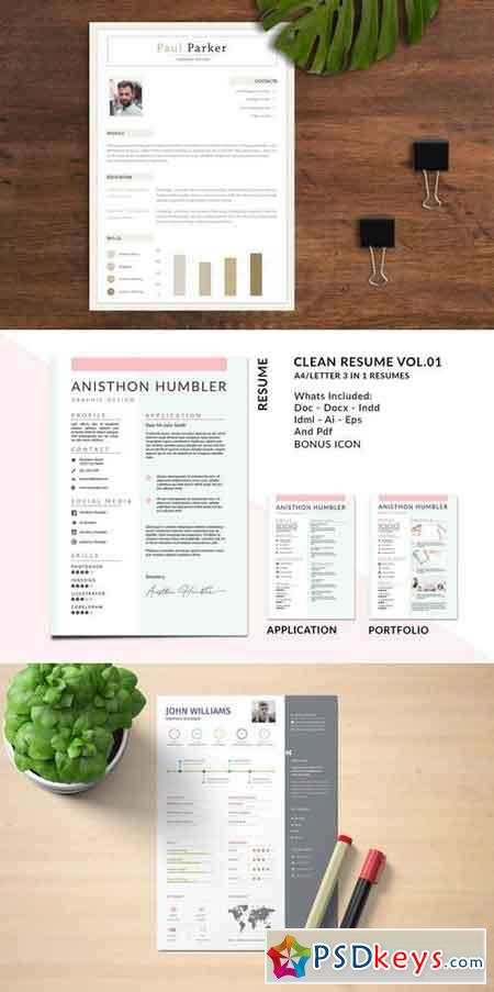 Resume CV Template Bundle 8