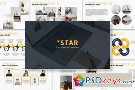 Star - Powerpoint, Keynote, Google Sliders Templates