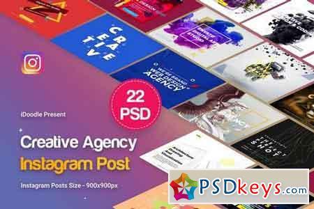 Agency Instagram Posts - 22 PSD