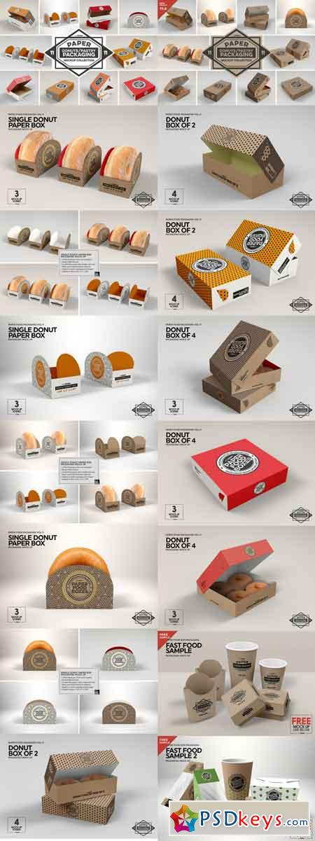 VOL.11 Food Box Packaging Mockups 2918568