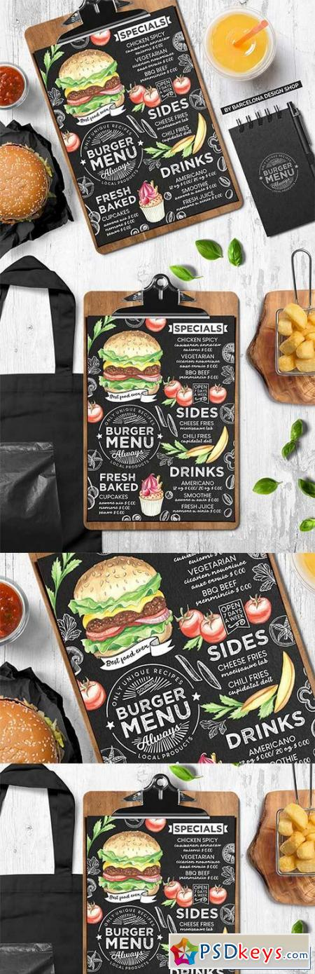 Burger Menu Template 3018873