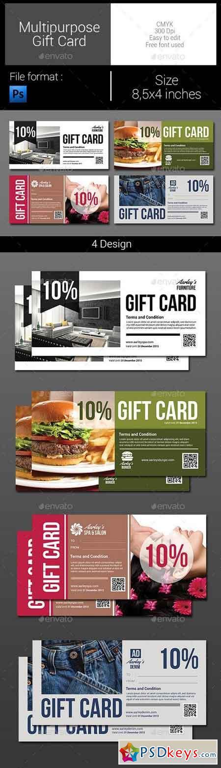 Multipurpose Gift Card 9966465
