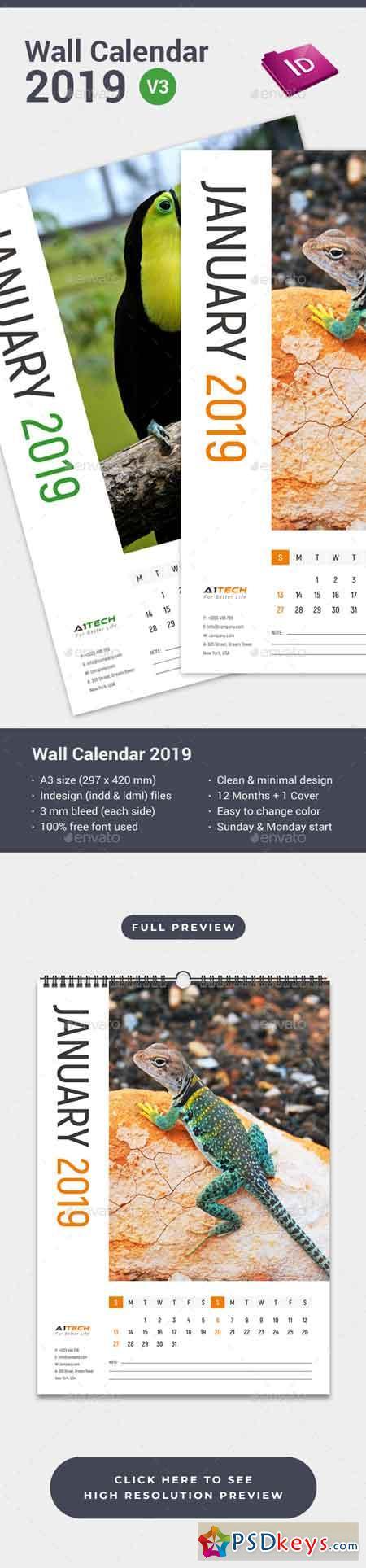 Wall Calendar 2019 22715479