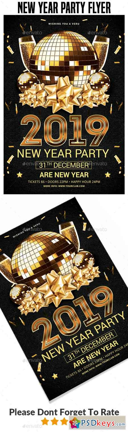 2019 New Year Party Flyer Templates 22717110