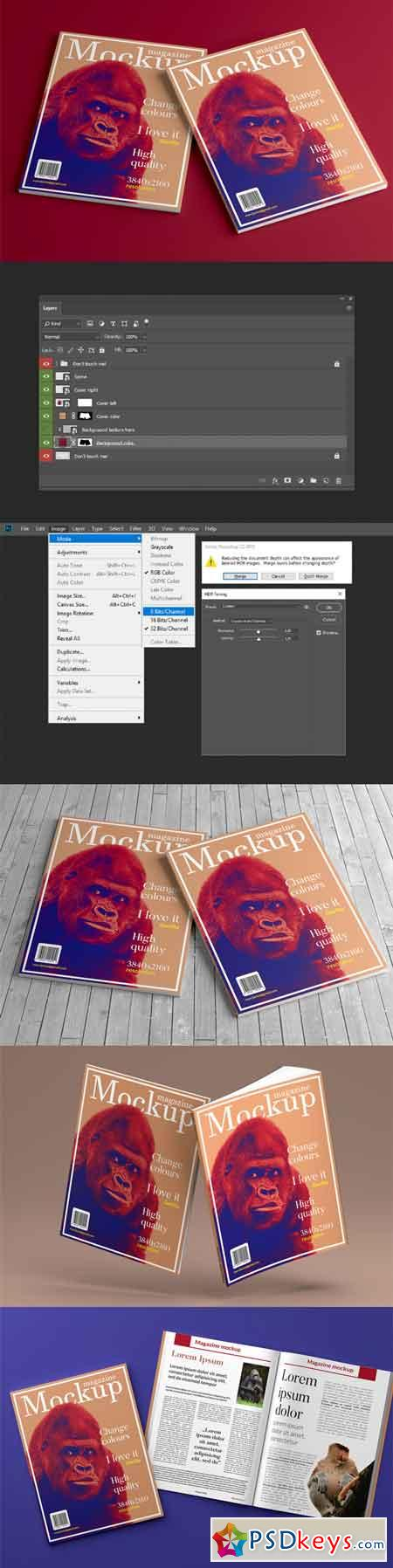 Magazine mockup (3 different shots) 3501762