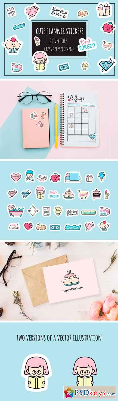 Cute Planner Stickers 134235