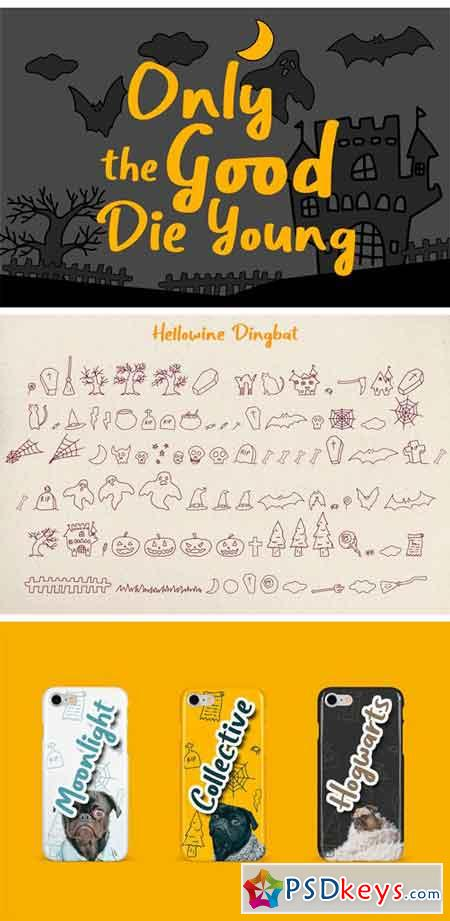 Hellowine - Cute Handwritten Font 3056596
