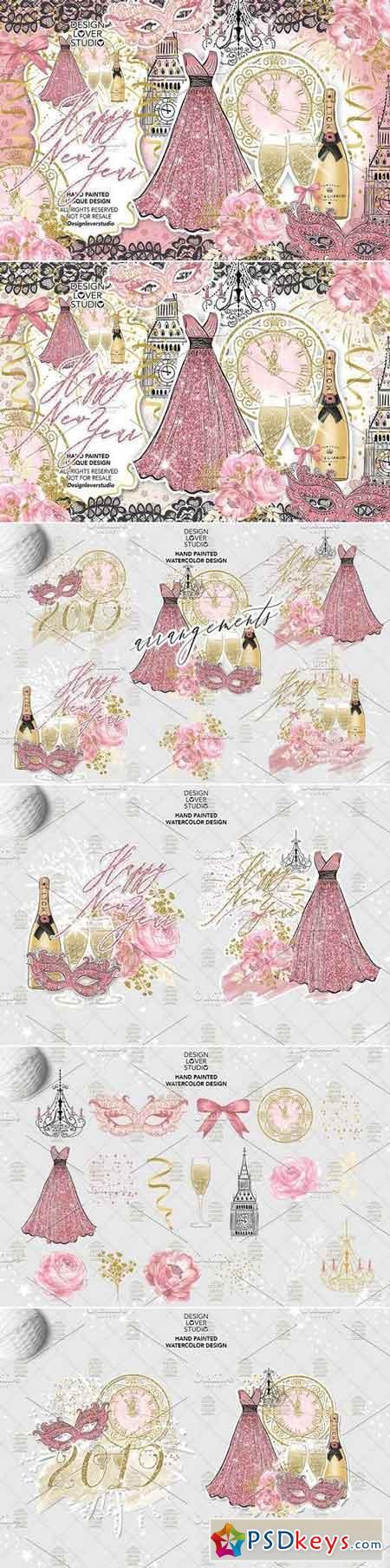 Happy New Year design 3095473