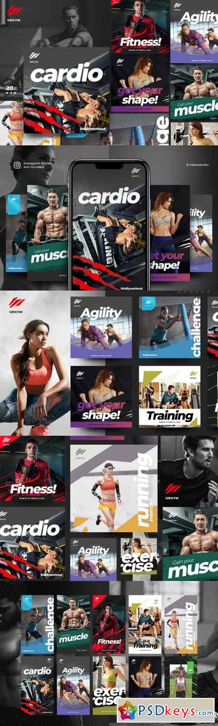 Fitness & Gym instagram pack 2.0 3501768