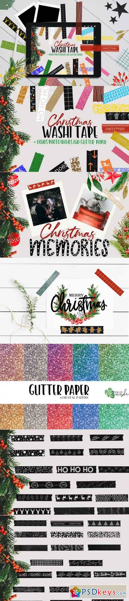Christmas Washi Tape Stamp Pack 3500364